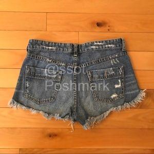 f6b05508f0 Free People Shorts - Free people dolphin hem distressed jean shorts